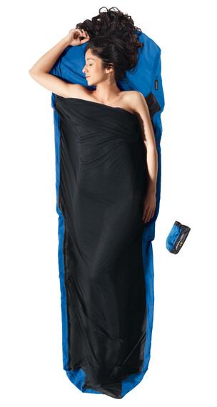 Cocoon MummyLiner - Sacos de dormir - Ripstop Silk/Thermolite azul/negro